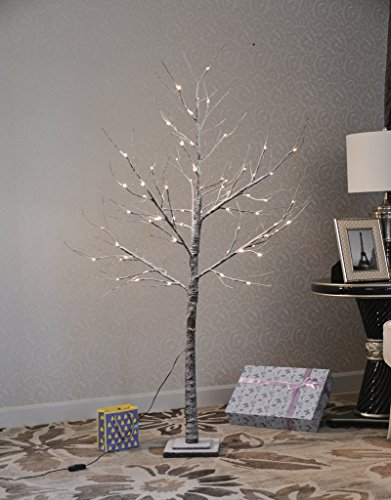 UPHA Snow 5 Ft Lighted Tree,72 LED Lights,Ideal Christmas Trees,Sutible for Holiday,Festival,Wedding Garden,Indoor and Outdoor Decoration, Warm Light (Wedding Tree Branches)
