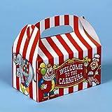 Big Top Carnival Treat Boxes – 12 per unit, Health Care Stuffs