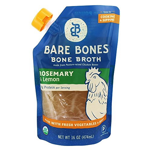 Bare Bones - Organic Bone Broth Chicken Rosemary & Lemon - 16 fl. oz.