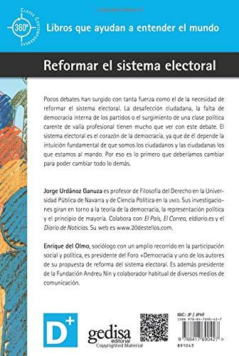 Reformar el sistema electoral 360º Claves Contemporáneas: Amazon ...