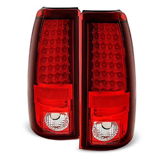 For 03-06 Silverado 05-07 Silverado Hybrid Pickup Truck Rear Red Clear LED Tail Lights Brake Lamps Pair (Pickup Classic Silverado Chevrolet 2007)
