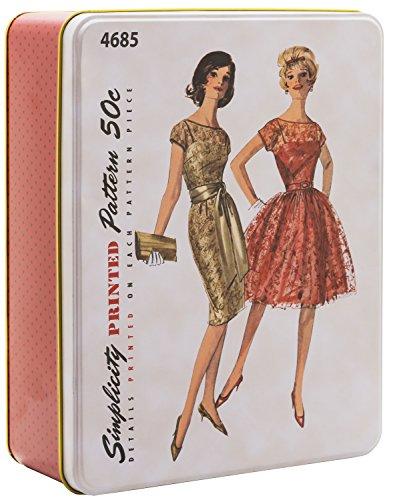 Simplicity Vintage Fashion 60's Tin Box, 9