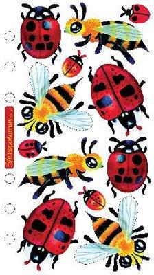 Stickopotamus Vellum Stickers-Ladybugs & Bees