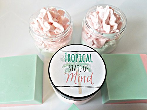 Tropical Whipped Sugar Soap Scrub | Body Butter | Handmade Soap | Gift For Her | Gift For Mom | Tropical Gift | Coconut | Mango ()