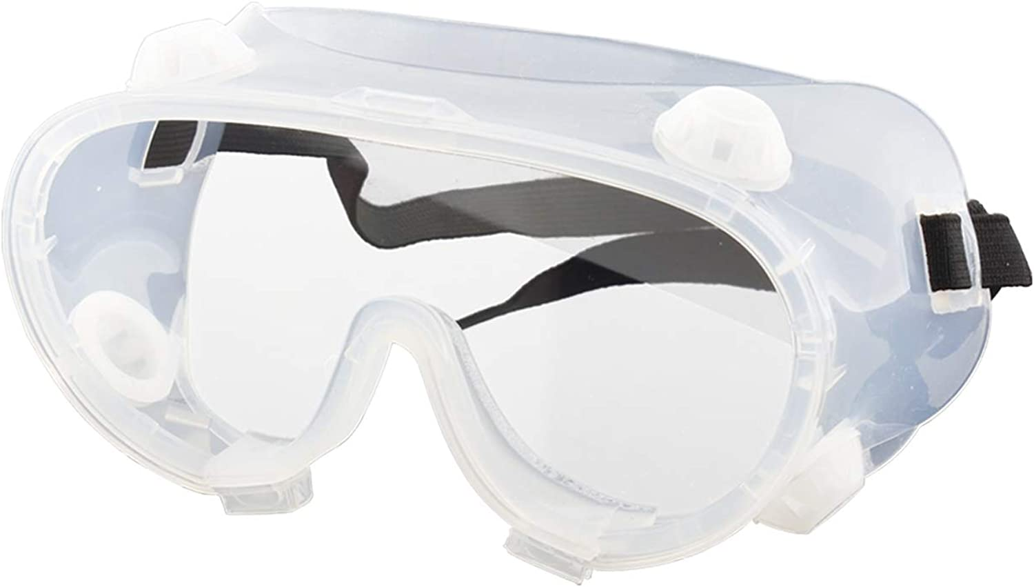Splash Safety Goggles, BangLong Protective Goggles Wraparound Eye Goggle Glasses Clear Body Anti-Fog Coating Clear Lens Protection for Chemical, Lab, And Workplace - Soft, Vent