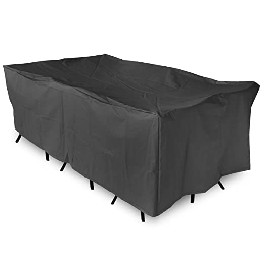 king do way outdoor garden furniture cover 308x138x89cm large waterproof cover polyester waterproof uv protection - Garden Furniture King