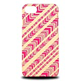 Foxercase Designs Vintage Rainbow Geometric Triangles Pattern Hard Back Case Cover for Apple iPhone 7