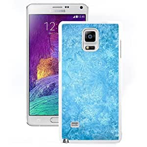DIY and Fashionable Cell Phone Case Design with Frozen Ice Snowflake Macro Galaxy Note 4 Wallpaper in White