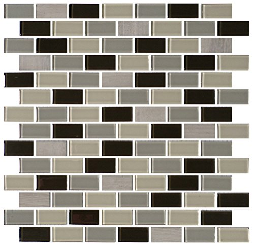 "Dal-Tile 34112BJMS1P-BP97 Mosaic Traditions Tile, 5/8"" x 3"", Evening Sky -  Dal-Tile Inc"
