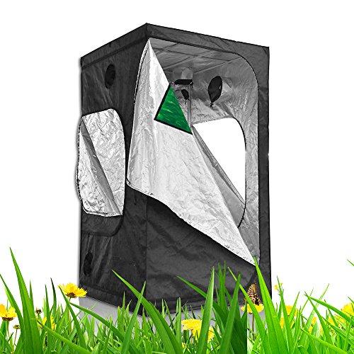 TopoLite 48″x24″x60″ 48″x24″X72″ 48″x36″x72″ 48″X48″x78″ Hydroponic Indoor Grow Tent Room for Indoor Plant Growing (48″x48″x80″ metal corner/window) Review