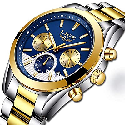 Men's Fashion Watch Sport Watch Quartz Watch Mens Watches Luxury Full Steel Business Waterproof Watch