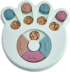 SHOUCAN Dog Bowl Slow Feeder, Anti Choking Puzzle Dog Food Bowl Plastic Pet Intelligence Toys,B