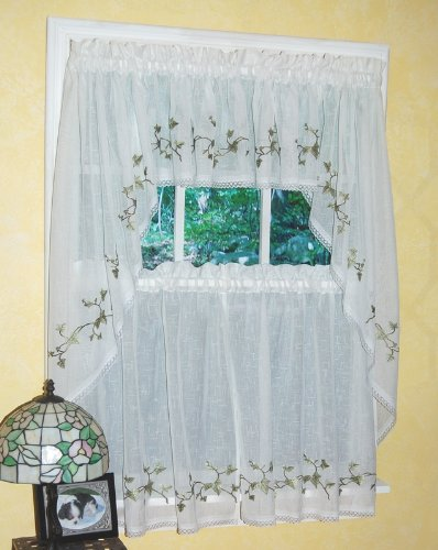 Curtain Chic Garden Path Valance, Ivy (Ivy Lace Valance)