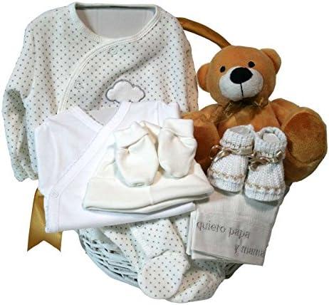 Canastilla regalo bebe - Primera Puesta Optima beige - Cesta recién nacido hospital: Amazon.es: Bebé