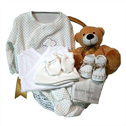 Canastilla regalo bebe - Primera Puesta Optima beige - Cesta recién ...