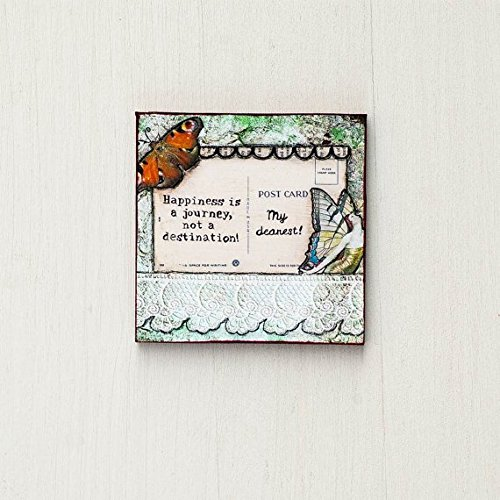 Happiness Refrigerator Magnet - Art Magnets - Refrigerator Magnets - Inspirational Magnets - Quote Magnets - Cute Magnet - Fridge Magnet - Whimsical Art - Happiness Quotes