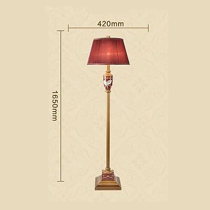 GBT Lámpara de pie roja nueva Lámpara de pie madera retro ...