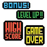 : Video Game Party 8-Bit Action Sign Cutouts