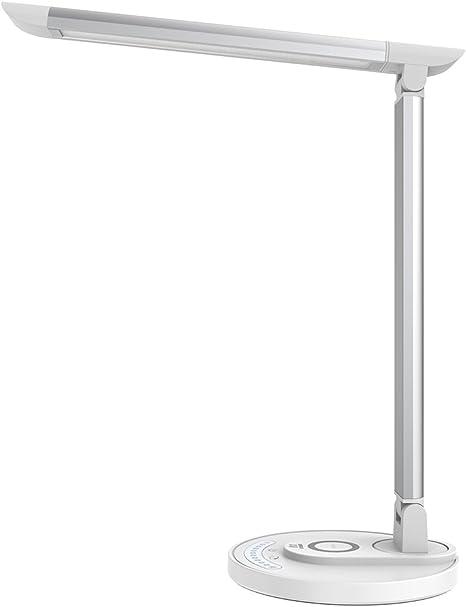 Taotronics Lampada Da Scrivania Lampada Da Tavolo Led Ricarica Veloce Wireless Per Iphone Lampada Da Scrivania Ufficio 5 Colori E 7 Livelli Di Luminosita Porta Di Ricarica Usb Funzione Memoria Amazon It Illuminazione
