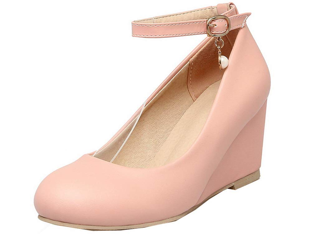 AalarDom Femme Chaussures Boucle à AalarDom Talon Correct PU B000LSXRV0 Cuir Couleur Unie Chaussures Légeres, TSFDH005673 Rose 1317ef5 - automatisms.space