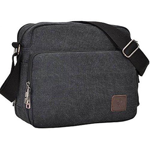 Outreo Borse a Tracolla Uomo Borsello di Tela Borsa a Spalla Vintage Messenger Bag Canvas Sacchetto di Libro per Scuola Università Tablet Tasche da Viaggio Outdoor Sport Tasca