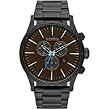 Nixon Men's A3862209 Sentry Chrono Analog Display Japanese Quartz Black Watch