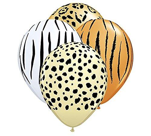 Qualatex Safari Assortment Biodegradable Latex Balloons, 11-Inch (12-Units)