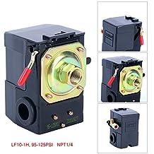 Lefoo Quality Air Compressor Pressure Switch Control Valve 95-125 PSI w/ Unloader LF10-1H-1-NPT1/4-95-125