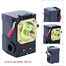 Lefoo Quality Air Compressor Pressure Switch Control Valve 95-125 PSI w/ Unloader LF10-1H-1-NPT1/4-95-125