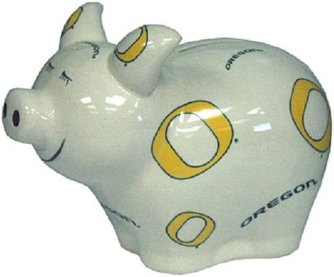 One Size Multicolor Game Day Outfitters NCAA Oregon Ducks Bank Piggy Logo All Over