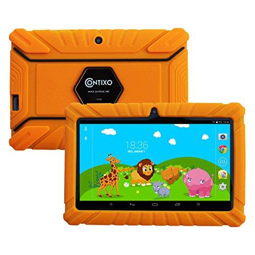 CYBER MONDAY! Contixo Kids Safe 7″ Quad-Core Tablet 8GB, Bluetooth, Wi-Fi, Cameras, 20+ Free Games, HD Edition w/ Kids-Place Parental Control, Kid-Proof Case (Orange)