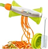 Best Spiral Slicer:Stainless Steel Vegetable Spiralizer,Japanese Blades,2 Julienne Sizes Spiral Cut