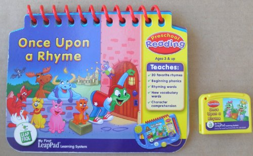Educational Cartridge - Leap Frog: Once Upon a Rhyme: Preschool Reading Educational Booklet and Cartridge for My First LeapPad Learning System - System NOT included