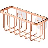 InterDesign Gia Kitchen Sink Suction Holder for Sponges, Scrubbers, Soap - Copper