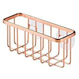 Copper Kitchen InterDesign Gia Kitchen Sink Suction Holder for Sponges, Scrubbers, Soap - Copper