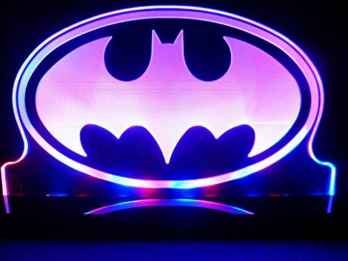 Batman Super Hero LED Table Lamp Night Light Kids Room Game Room (Harley Quinn Arkham City Halloween Costume)