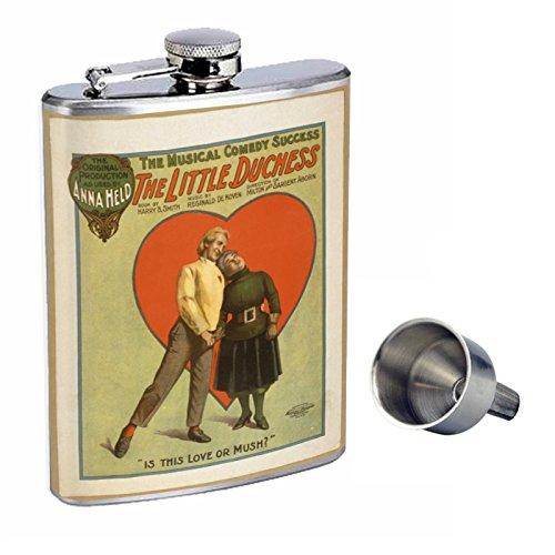 史上一番安い Perfection Inスタイル8オンスステンレススチールWhiskey Flask Flask with Free Funnel held d-133 Little Duchess loveまたはMush held is this loveまたはMush B017GKWJDM, Styl-us(スタイラス):95e5ca72 --- newsdarpan.in