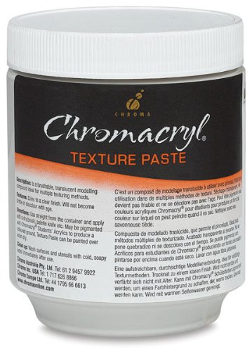 chroma-402252-chromacryl-texture-paste-8-oz-capacity-white