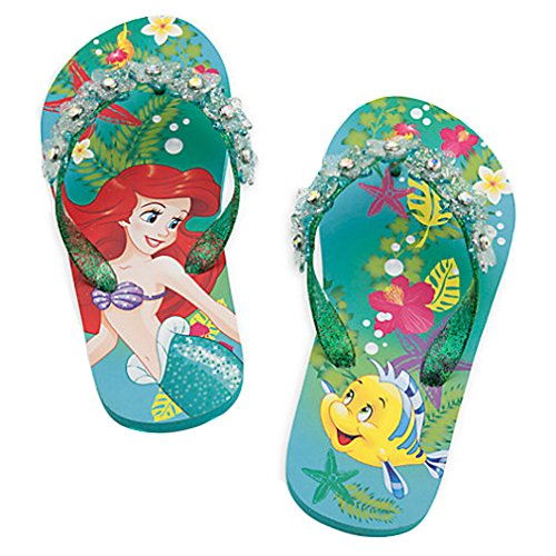 Disney Store The Little Mermaid Ariel and Flounder Flip Flops