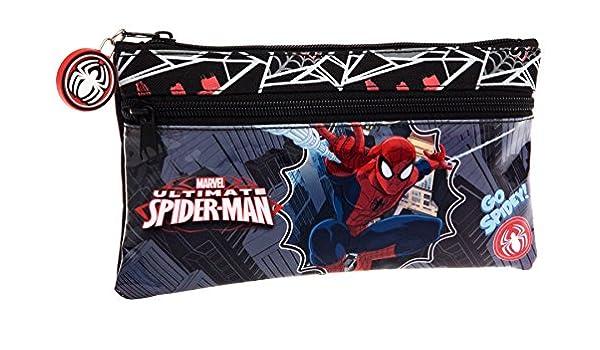 Spiderman-Estuche escolar compartimentos Go Spidey agenda 2015, diseño de Spiderman: Amazon.es: Oficina y papelería
