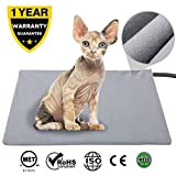 lesotc Dog and Cat Pet Heating pad, Indoor Waterproof Electric Heating pad for Dogs and Cats(17.7×15.7in)