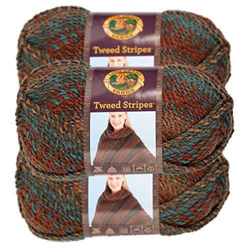 (Lion Brand Yarn (3 Pack) Chunky Yarn Acrylic 100 Percent Soft Yarn for Knitting Crocheting Bulky #5)