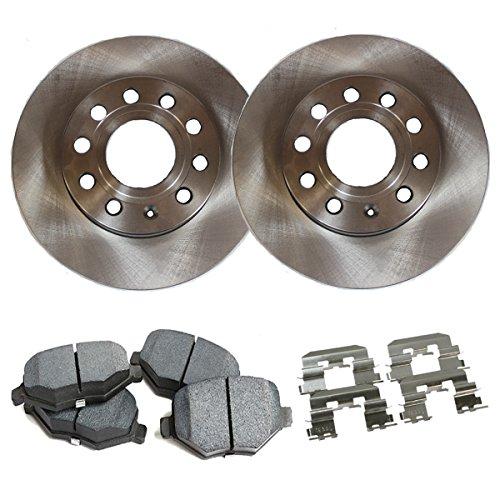Detroit Axle - Rear Brake Rotors & Ceramic Pads w/Clips Hardware Kit Premium GRADE for 01-07 Toyota Sequoia - [03-09 Toyota 4Runner] - [07-09 Toyota FJ Cruiser] - [03-09 Lexus GX470]
