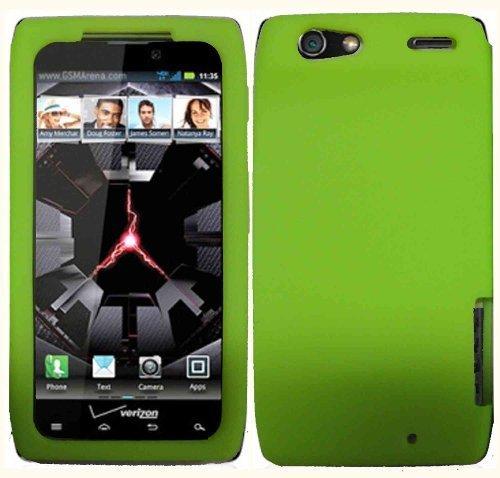 Neon Green Silicone Jelly Skin Case Cover for Motorola Droid Razr XT912