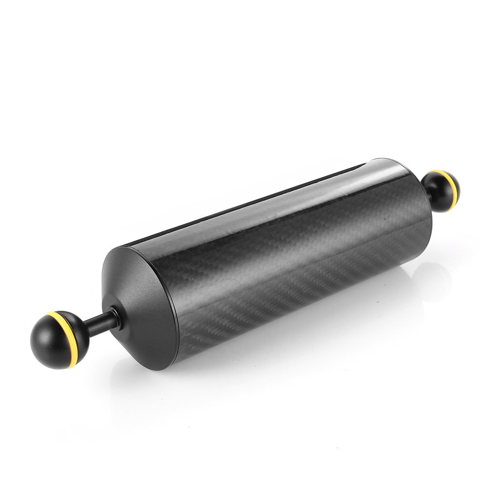 Run Shuangyu 10in Carbon Fiber 1inch Dual Ball Floating Arm for Buoyancy Underwater Camera System