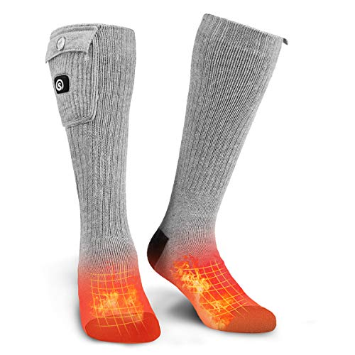 Electric Heated Socks, Foot Warmer with Rechargeable Powered Battery, Winter Warm Socks Kit for Outdoor and Indoor Camping, Hiking, Hunting Motorcycling for Men and Women