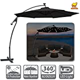 Strong Camel 10' LED Patio Umbrella OffSet Banana Cantilever Hanging Parasol