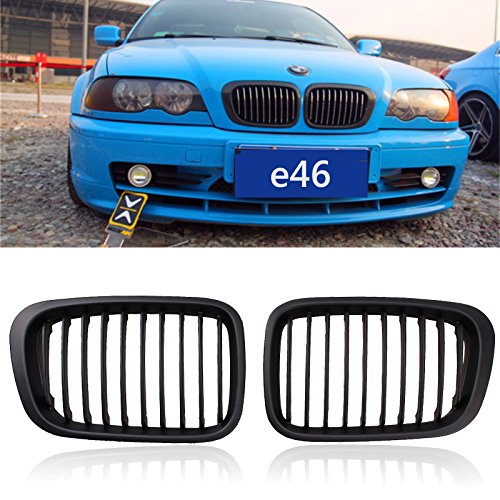 Price comparison product image Front Replacement Black Kidney Grille Grill For BMW 1998-2001 3 Series Sedan E46 320i 323i 325i 328i 330i 4D 4 Door