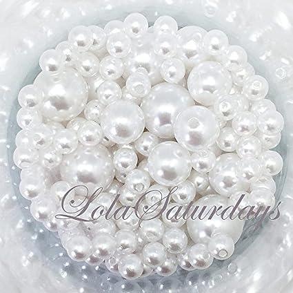 Amazon Lolasaturdays Pearls 1 Lbs Loose Beads Vase Filler