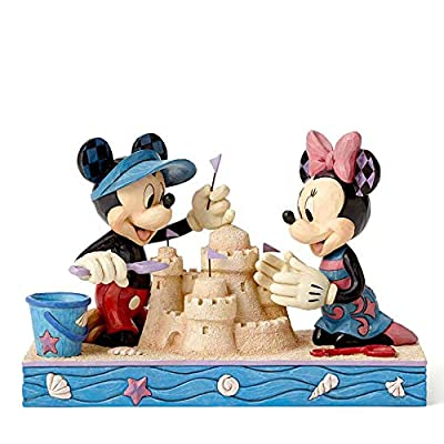 Enesco Disney Traditions by Jim Shore Seaside Mickey and Minnie Figurine, 5.5""